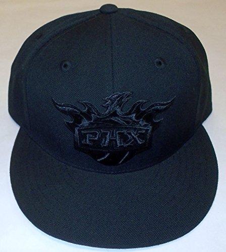 - NBA Phoenix Suns Black Flat Brim Fitted Adidas Hat - Size 7 3/8  - TMU33