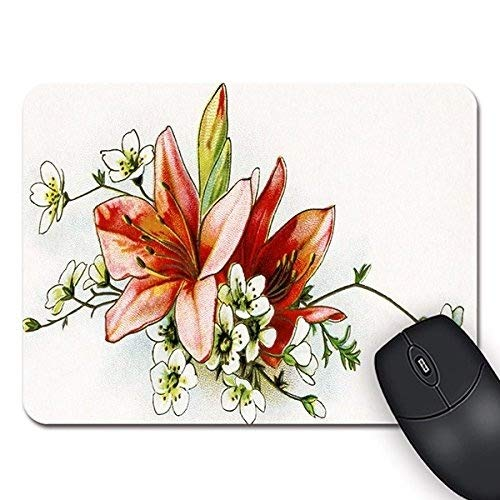 Flying Pig Men Clip Art Lily Flowers Rectangle Non-Slip Rubber Mouse Pad Mousepad Standard for $<!--$6.59-->