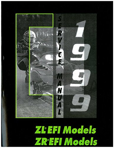 2255 942 1999 Arctic Cat ZL 500 EFI 600 ZR LE Snowmobile Service Manual Paperback 2004