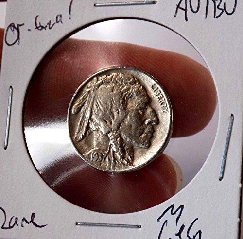Buffalo Nickel 1937 D 3 Leg AU/BU Stunner High grade Bold Original Rare Beauty