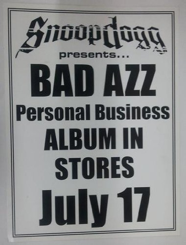 amazon com snoop dogg presents bad azz personal business 18x24