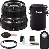 Fujifilm XF 23mm f/2 R WR Lens (Black) w/Focus Accessory Bundle
