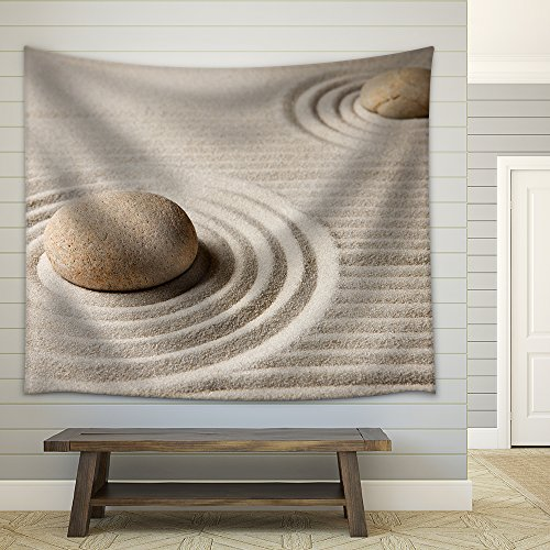 Mini Zen Garden Fabric Wall Tapestry