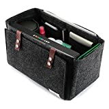 Bridawn Handbag Insert Organizer Felt Purse Organizer for Tote Handbag with Flapper