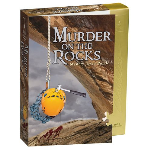 Bepuzzled Classic Mystery Murder On The Rocks Jigsaw Puzzle by University Games |Comes with Murder Mystery and Jigsaw Puzzle | 1,000 Piece Jigsaw | For Ages 12 Years and Up