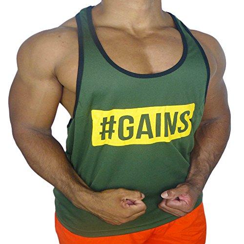 a68a1b2317de01 CRAZYBODIES Gains Men s Stringer Bodybuilding Fitness Muscle Workout Gym Tank  Tops Singlet - Buy Online in Oman.