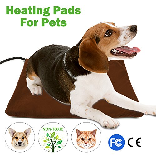 NuoYo Pet Heating Pad, Electric Heating Pad for Dogs and Cats Warming Mat With 7 Adjustable Temperature Chew Resistant Steel Cord Waterproof Soft Reomover Cover 15.7