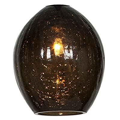 Access Lighting 946WJ-SMK Crackle Accessory Glass Shade, Smoke