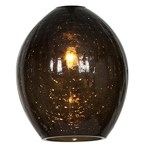 Crackle Glass Globe Pendant Light - 2