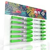6 Water Brush Pens Set with Assorted Tips by