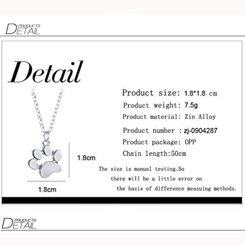 Clearance ! Dog Footprint Necklace,Vanvler Men Women Animal Pendant Necklace Jewelry (Silver) by Vanvler Necklace (Image #2)