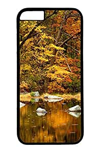 iPhone 6 Case - Illustrators Series Protective Hard Black Case Cover Skin For iPhone 6 (4.7 inch) Orange Fall 2
