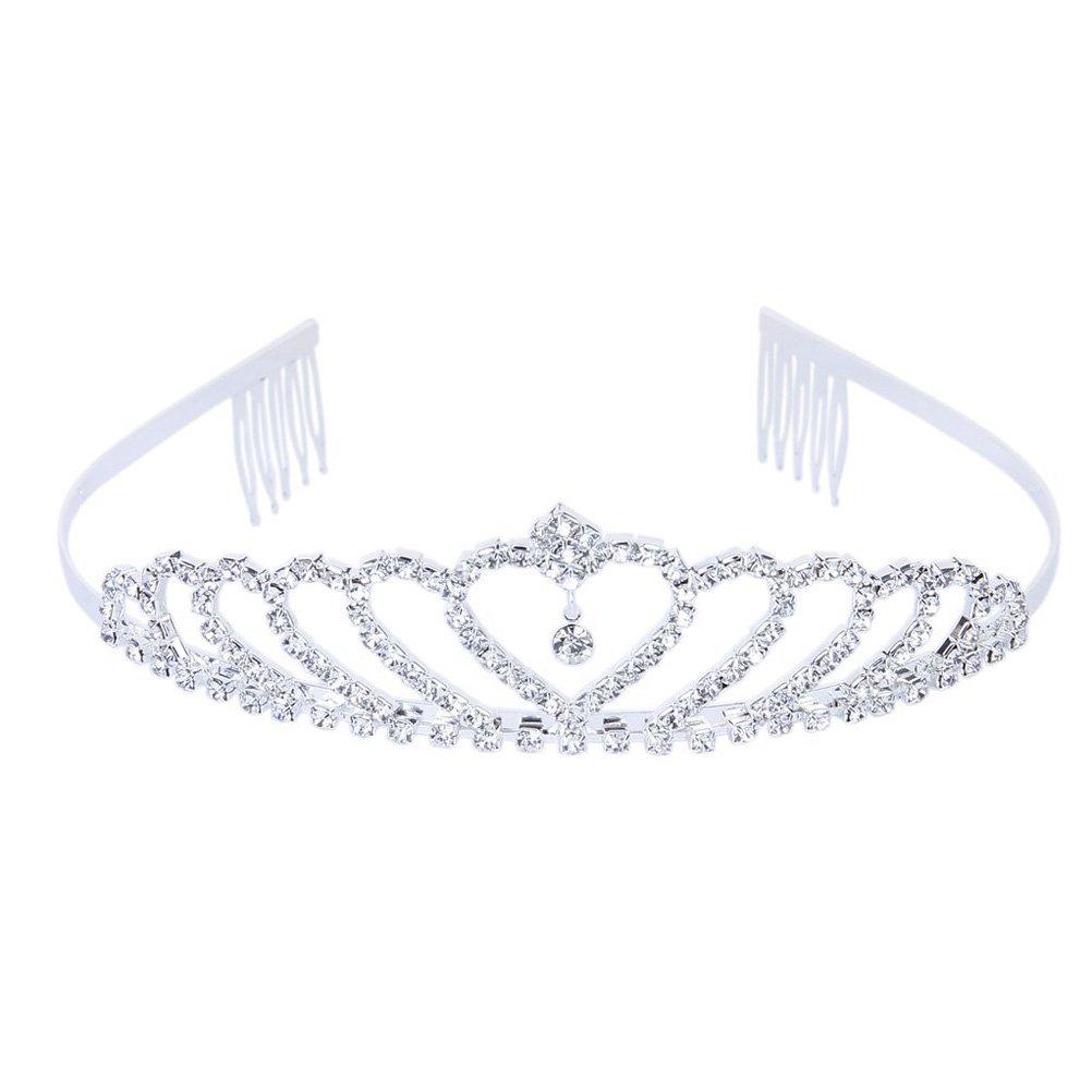 Pixnor Bling Bling cerimonia nuziale Matrimonio Strass Corona principessa  diadema Tiara cerchio brillante 04044b40085a