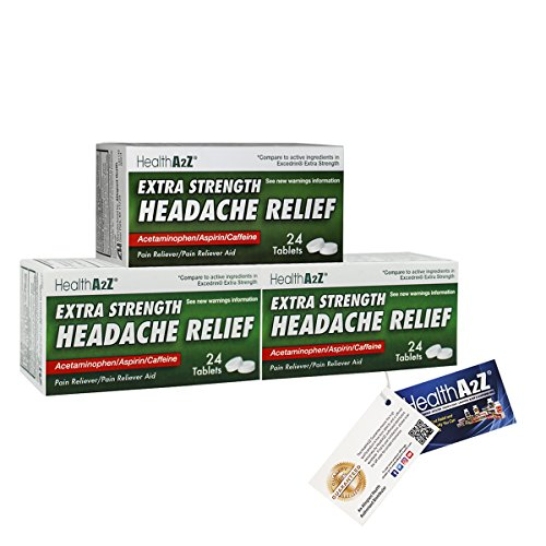 Heahlth A2z Extra Strength Headache Relief   Compare To Excedrin  Extra Strength Active Ingredient Convenience Pack