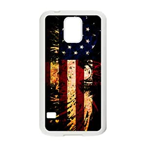 LINGH American Flag USA Bald Eagle Cell Phone Case for Samsung Galaxy S5