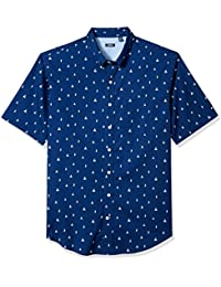 Men's Big and Tall Saltwater Breeze Print Short Sleeve Shirt