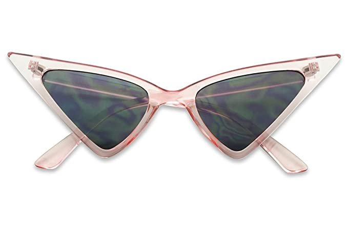 ed761ff278 SunglassUP Exaggerated Vintage High Pointed Tip Triangle Cat Eye Sunglasses  (Acrylic Pink Frame
