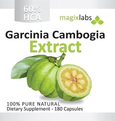 Garcinia Cambogia Extract Extreme - 100% Pure 60% HCA - 1,000 mg per capsule, 120 Vegetarian Capsules - 100% Money Back Guarantee!