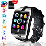 Smart Watch, Touch Screen Bluetooth WristWatch with Camera/SIM Card Slot/Pedometer Analysis/Sleep Monitoring for Android (Full Functions) and IOS (Partial Functions)