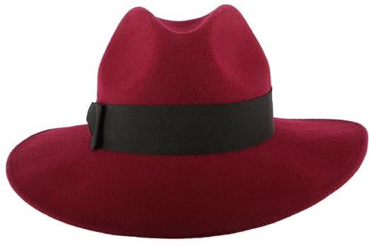 Gran sombrero Burdeos mujer fieltro Ségur - Mujer granate Talla única    Amazon.es  Ropa y accesorios e044d219d0a