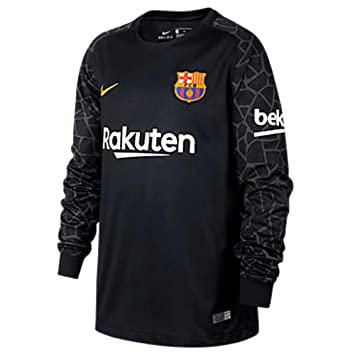 ff291a876 2017-2018 Barcelona Home Nike Goalkeeper Shirt (Black) - Kids ...