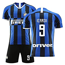 HS-HCF.HW Maillot de Football Inter Milan Maillot de Football n ° 9 Mauro Icardi Ensemble d'entraînement de Football pour Adulte,XL(180~195cm)