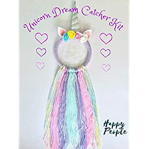 Full Size Make Your Own Unicorn Dream Catcher Kit Kids Craft Gifts for girls