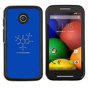Smartphone duro PC Carcasa Funda protectora para Motorola Moto E/Phone Case TECELL Store/137Trimethylxanthine