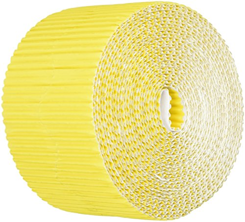 Bordette Pacon Scalloped Decorative Border, 50 feet x 2-1/4 Inches, Canary Yellow - 6066