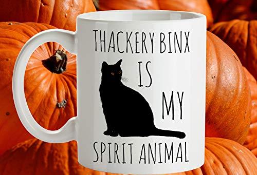 Thackery Binx Mug, Hocus Pocus Cat, Thackery Binx is My Spirit Animal, Halloween Mug, Black Cat, Halloween Cat Lovers, Hocus Pocus Mug]()