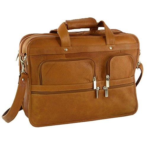 Hammer Anvil Turbo Colombian Leather Briefcase Top-Zip Laptop Messenger Bag TAN