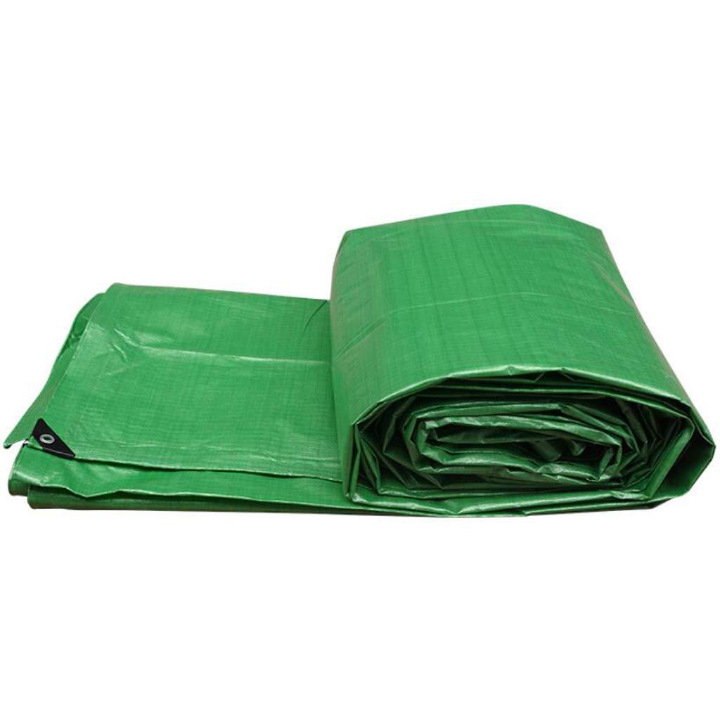 Plane LINGZHIGAN Plastik-PET-Markise-Tuch-regendichte Tuch-Wasserdichte Sunscreen-Schattierung-Isolierungs Farbstreifen-Tuch-Dreirad-Kabinendach-Grün