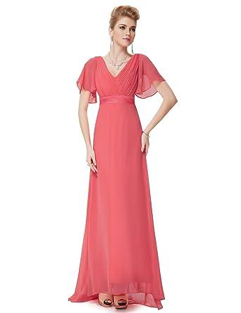 25ea12af1ea Ever-Pretty Robe de soirée en Double V-col et Manches Courtes 09890   Amazon.fr  Vêtements et accessoires