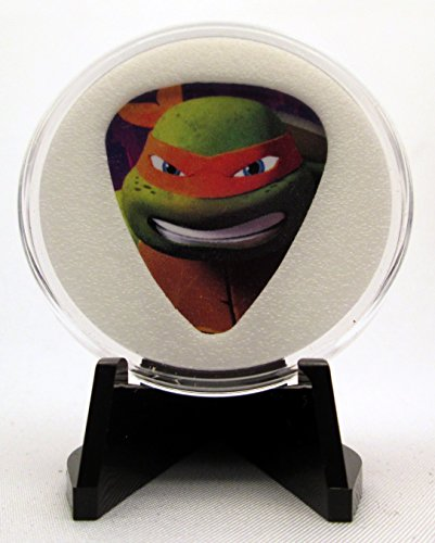 (Teenage Mutant Ninja Turtles (Michelangelo-Face) Guitar Pick With Display Case & Easel - 100% MADE IN USA!)