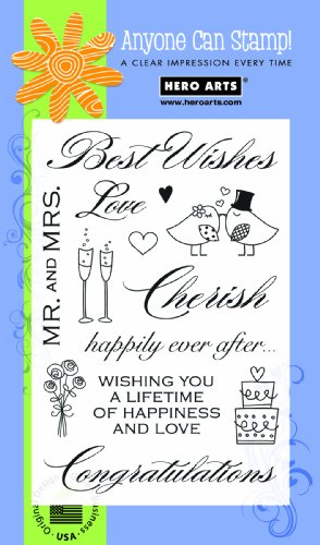 Hero Arts PolyClear Stamps Best Wishes