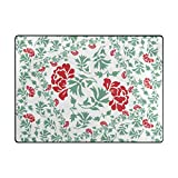 Top Carpenter Floral Decorative Design Area Rug Pad - 5.25' x 4' - 100% Light Weight Polyester Fabric for Living - Bedroom