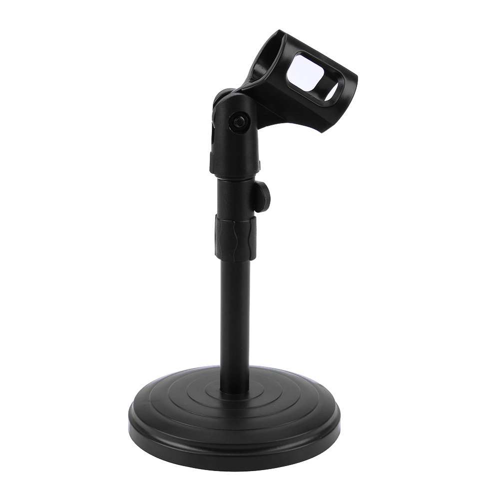 Vanpower Foldable Desk Table Microphone Clip Stand Mic Tripod Adjustable Holder,Black