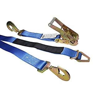 "2"" x 8' Blue Auto Tie Down Ratchet Strap 10,000 l"
