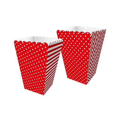 Regina Caixa Mini Pipoca Fa R572 Festa Colors Vermelho Pacote De 8 unidades