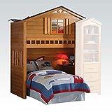 1PerfectChoice Kids Children Fun Tree House Twin Loft Bunk Bed Build in Computer Writing Desk