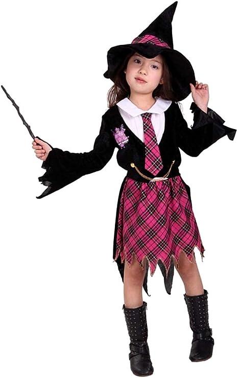 Disfraz de hechicera - niña - halloween - carnaval - cosplay ...