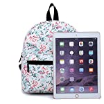 """Lightweight Travel Mini Backpack for Women and Teens (Beach White Small) 7 <p>MEDIUM size 15-inch backpack. Please note there are two sizes: small and medium. This medium-sized backpack is 15.5"""" tall x 11.5"""" wide x 6.3"""" deep. Binders, folders and laptop computers will fit. See pictures and description for reference and further details. POCKETS. Two side pockets for water bottles, sun-glasses, etc. Front zippered pocket for small items such as pens, phone, etc. Large main compartment with heavy-duty double zippers for big items such as laptop, binder, books, notebook, folder, and more. PERFECT for laptop. Convenient internal sleeve is ideal for a 14-inch laptop computer, tablet or iPad. Perfect fit for MacBook, MacBook Air or MacBook Pro 13-inch. Maximum laptop size is about 13-1/2"""" x 10"""" x 1"""" thick. DURABLE and PRACTICAL. Heavy-duty 600 denier oxford canvas exterior with padded back. 210 denier oxford interior lining. Adjustable foam-PADDED SHOULDER STRAPS fit all sizes from small teens to full-grown adults. OTHER USES: Lightweight carry on travel bag, ladies large backpack purse, cute preschool diaper bag, elementary school student bookbag, hiking, picnic etc.</p>"""