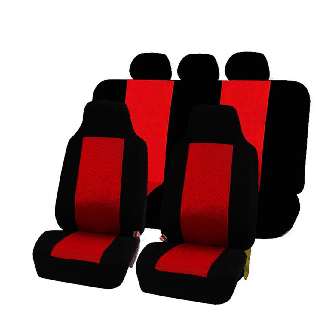 Seater Anteriore GODGETS Coprisedili Auto Set Completo Universali Anteriori e Posteriori Set Coprisedile,Slittata Resistente allUsura Accessori Auto Interno,Tutto in Nero,2