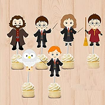 Amazon.com: Adornos de Harry Potter para decorar cupcakes ...