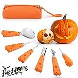 Pumpkin Carving Tools Kit Professional - Cinsey 6 Pcs Stainless Steel Halloween Pumpkin Carving Knife Set Sculpting Tool (pumpkin carving-01)