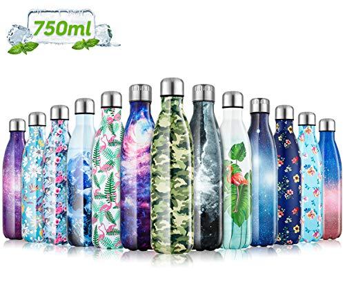 Fancytimes 350/500/750ml Vakuum Isolierte Edelstahl Trinkflasche Wasserdicht, ohne leckage, Edelstahl ohne BPA – Ideale…