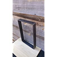 Flat Square Metal Bench Table Leg - Beeswax coating optional - Per Leg