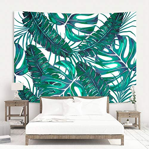 Zeronal Wall Hanging Tapestry Palm Tree Leaves Tropical Plants Vintage Tapestry Wall Tapestry Home Decor - Leaves Wall Tapestry