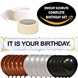 ''IT is Your Birthday.'' Dwight Schrute Complete Birthday Kit. Vinyl Banner, Balloons, Party Streamer and Tape. The Office Show Party Set.