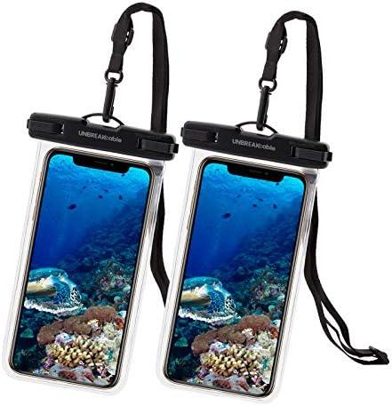 UNBREAKcable [2-Pezzi] Custodia Impermeabile Universale – Borsetta Impermeabile IPX8 Dry Bag per Telefono per iPhone XS Max/XR/XS/X Samsung Galaxy S10Plus/ S10 Huawei P30 PRO/ P30 Fino a 6.6 Pollici